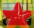star balloons - custom balloons - star shape